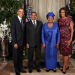 President Barack Obama and First Lady Michelle With Tanzanian President Jakaya Kikwete and First Lady Salma in New York City on Sep 24, 2013