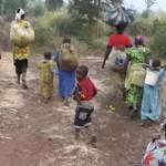 Congolese Women and Children Fleeing to Rwanda in July 2013