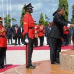Jakaya Kikwete at the Heros Monument at Naliendele Mwara, Tanzania