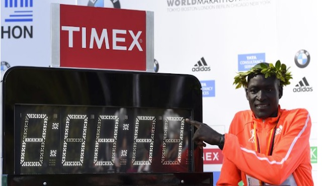 Kenyan Dennis Kimetto - First Marathon Record under 2h03