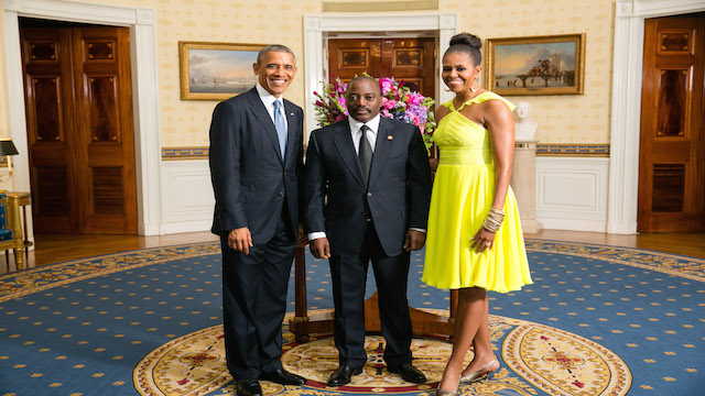 President Obama, Michelle Obama And President Kabila At The Whitehouse  During US Africa Summit
