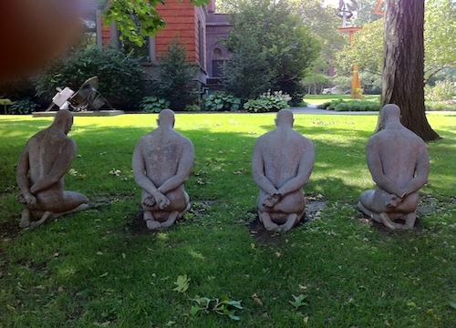 """Welcome"",  is about slavery, repression and human rights abuses. Pratt Institute in Brooklyn.  Photo taken on August 21, 2011"