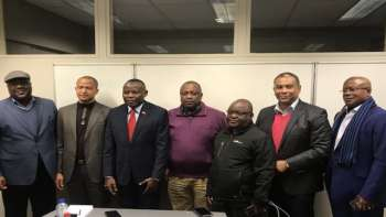 DRC Elections:  some of the main opposition leaders in a meeting in Jan 2018