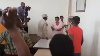 Diane Rwigara and her mother Adeline Rwigara  by police officers, Oct 5, 2018