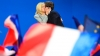 Emmanuel Macron and wife Brigitte Trogneux, kiss after winning first round of France presidential elections