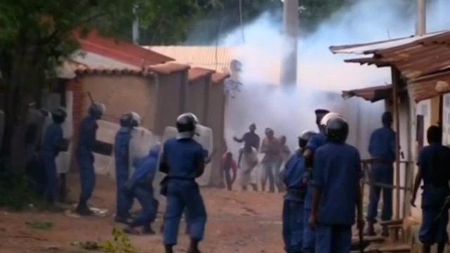 Protests in Burundi against Pierre Nkurunziza seeking third term