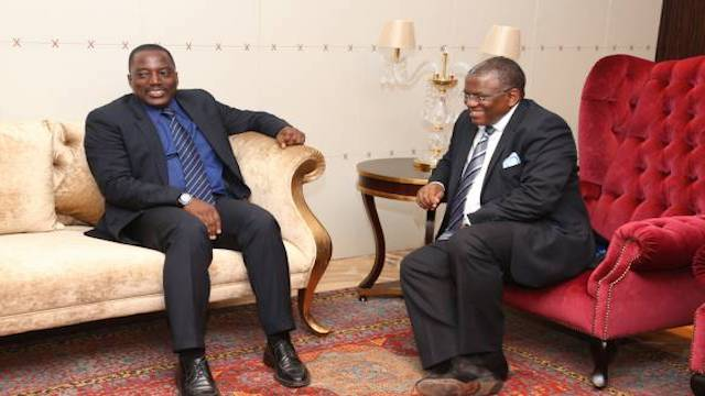 Joseph Kabila and Angola's George Chicoti Rebelo