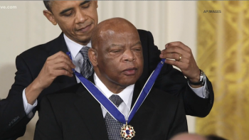 U.S. Rep. John Lewis Receiving Medal of Freedom from President Barack Obama in 2011