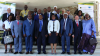 Rose Christiane Raponda, First Woman  Prime Minister in Gabon, front middle, in July 2020